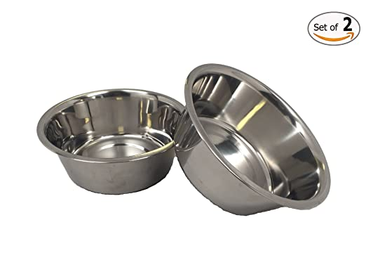 Top Dog Chews Stainless Steel Dog Bowl Set