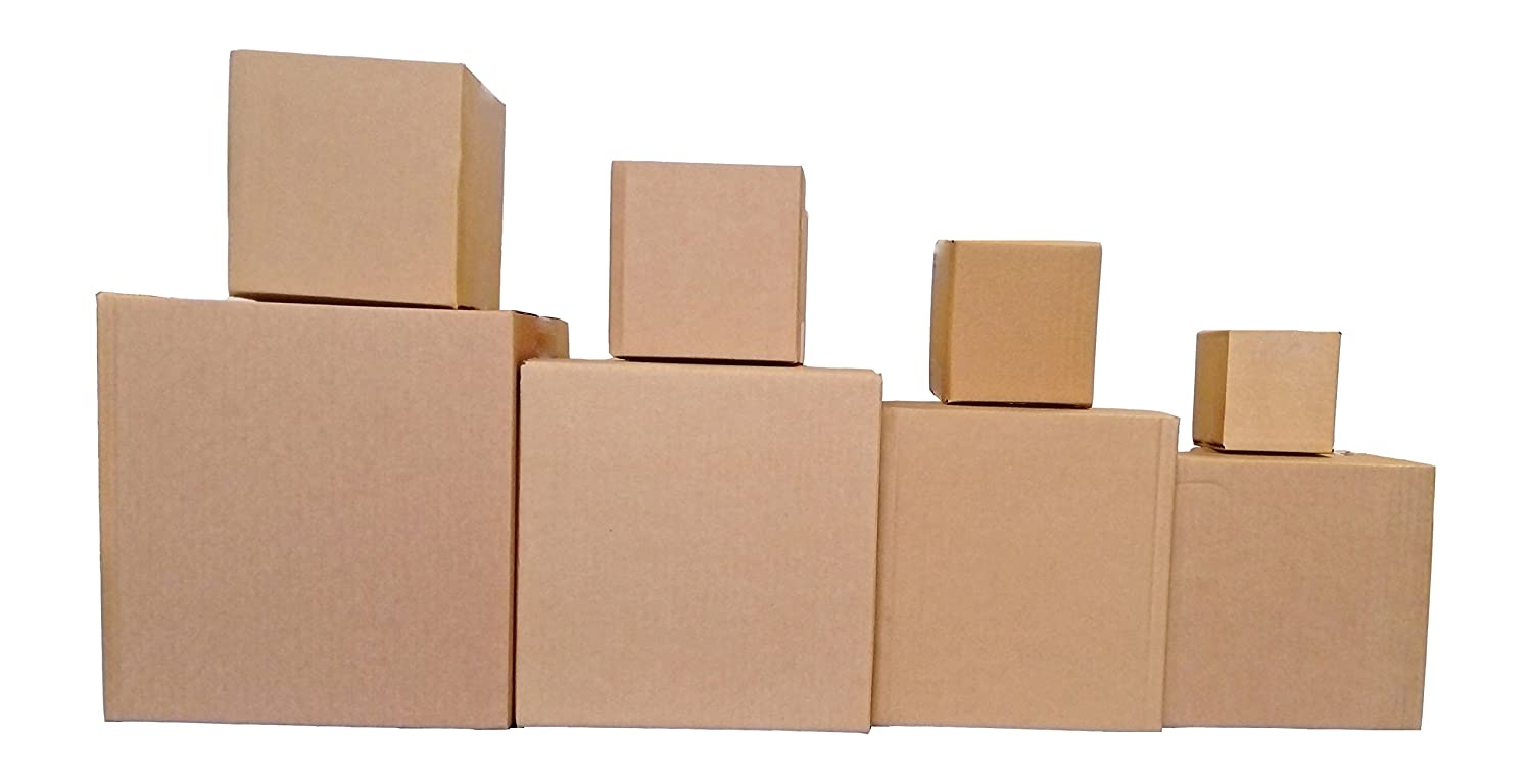 10 x SINGLE WALL CUBED CARDBOARD BOXES (3') Boxes2Go