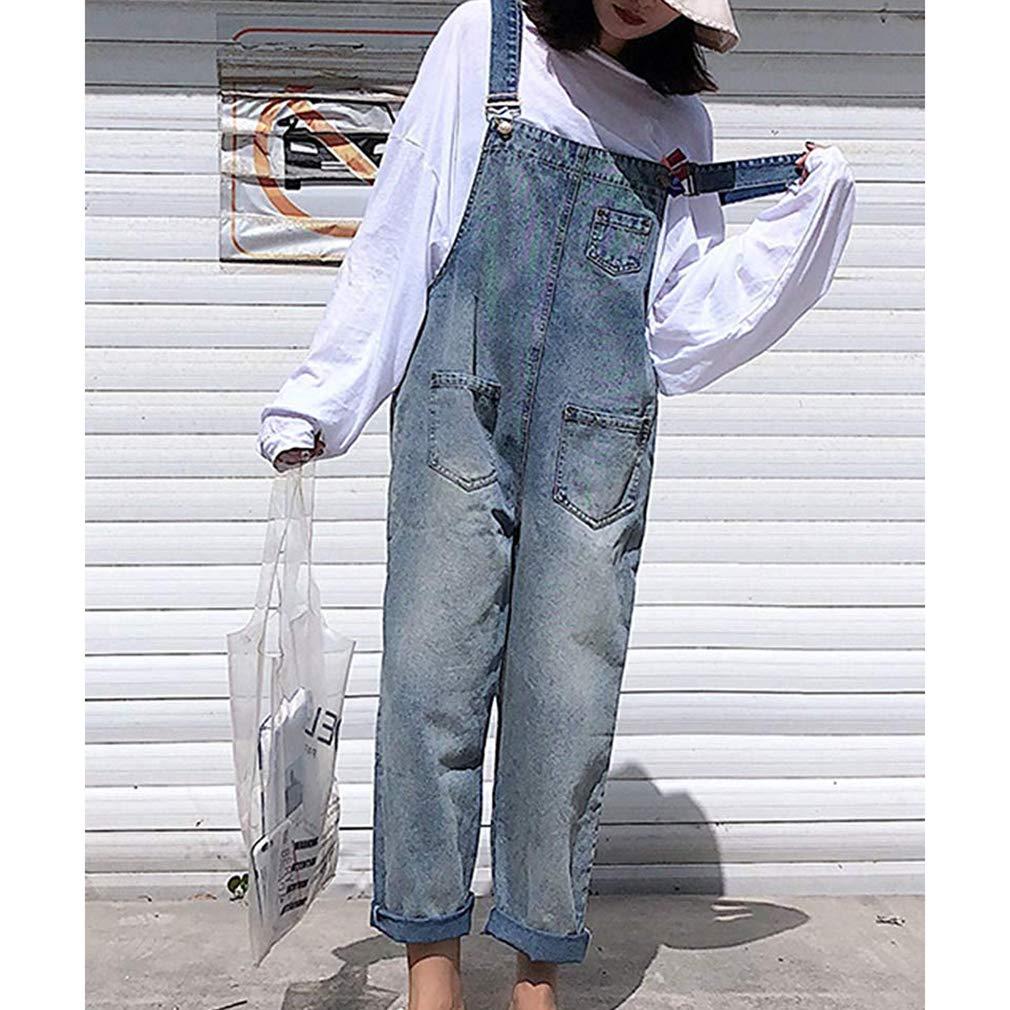5478b13eb30d3 Women High Waist Jeans Dungarees Jumpsuit Boyfriend Denim Baggy Pants Harem  Pants Overalls
