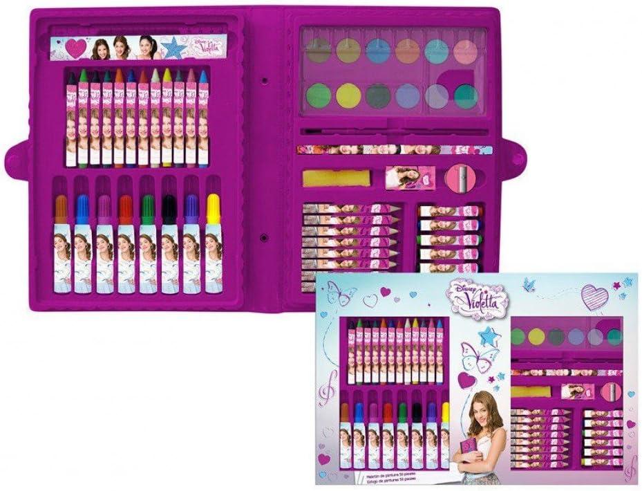 Estuche pintura Violetta Disney Travel 53pz: Amazon.es: Electrónica