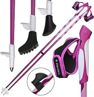 ALPIDEX Bâtons de Marche Nordique bâton à Taille Fixe en Carbone Disponibles en Tailles différentes