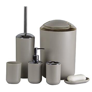 Badezimmer Zubehör, IAMUQ Neuen 6 Pcs Kunststoff Badezimmer Zubehör  Sets,Zahnbürstenhalter, Seifenspender,