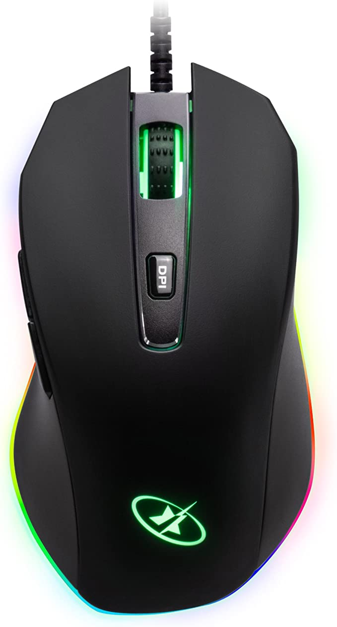 Rosewill 4000 dpi Optical Wired Gaming Mouse For Large Hands Six Buttons ION D10