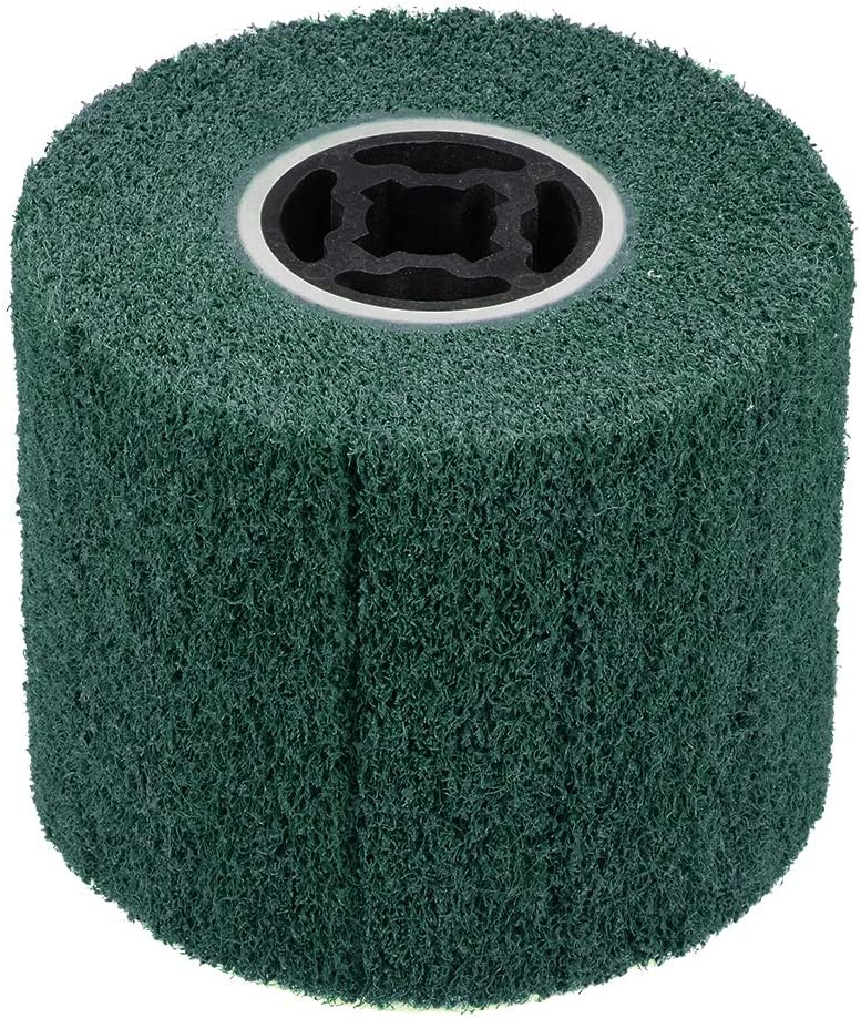 uxcell Abrasive Polishing Wheel Nylon Wire Drawing Burnishing Wheel for Metal Iron Aluminum 80 Grit Green