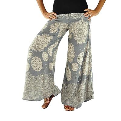 virblatt Pantalones de Verano Ligeros como Pantalon Palazzo modelados para Mujeres Pantalones Campana S-L de un tamaño único para Pantalones como Ropa Alternativa Légère Gy: Ropa y accesorios