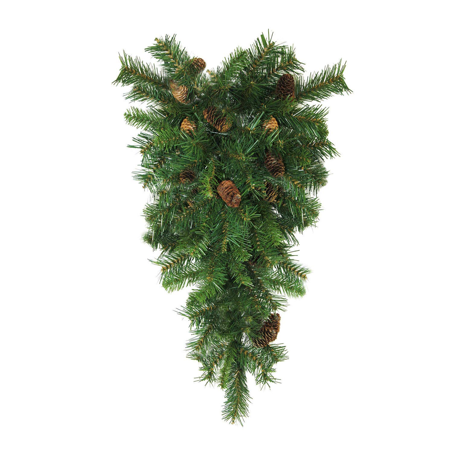 Northlight 42'' Dakota Red Pine Artificial Christmas Teardrop Swag with Pine Cones - Unlit by Northlight