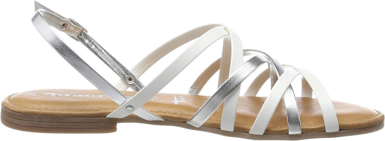 Tamaris 1-1-28196-32 191, Spartiates Femme Blanc White Silver 191
