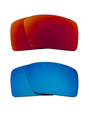 97cc6c8026 Eyepatch 1 Replacement Lenses Polarized Blue   Red by SEEK fits OAKLEY