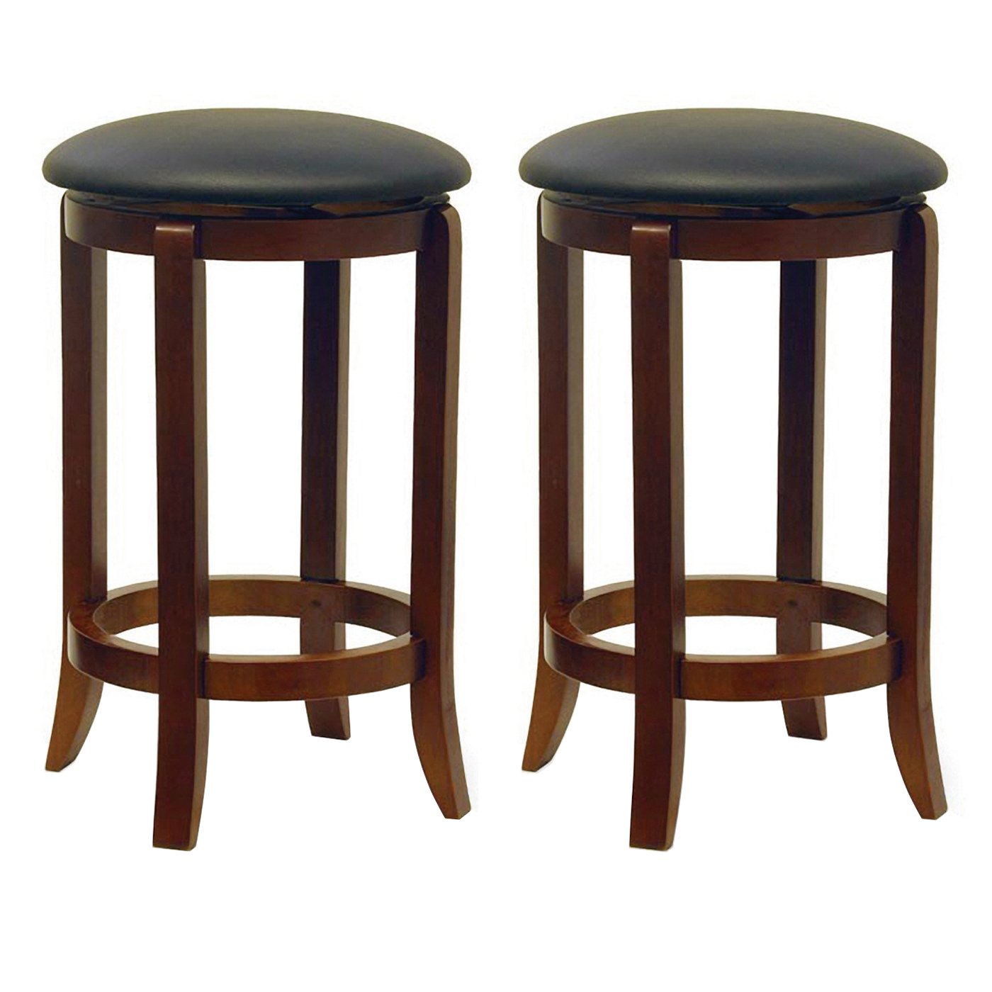 Amazon.com: Winsome Wood 94624 Faux Leather Swivel Set Bar Stool ...