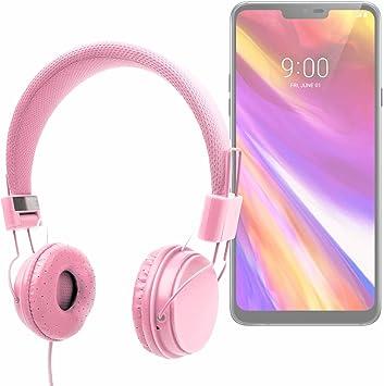 DURAGADGET Auriculares De Diadema Color Rosa para Smartphone LG G7 ...