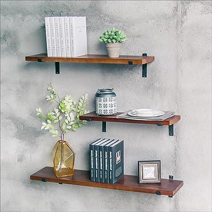 Amazon.com: LIAN Solid Wood Kitchen Shelf Wall Mounted Rack ...