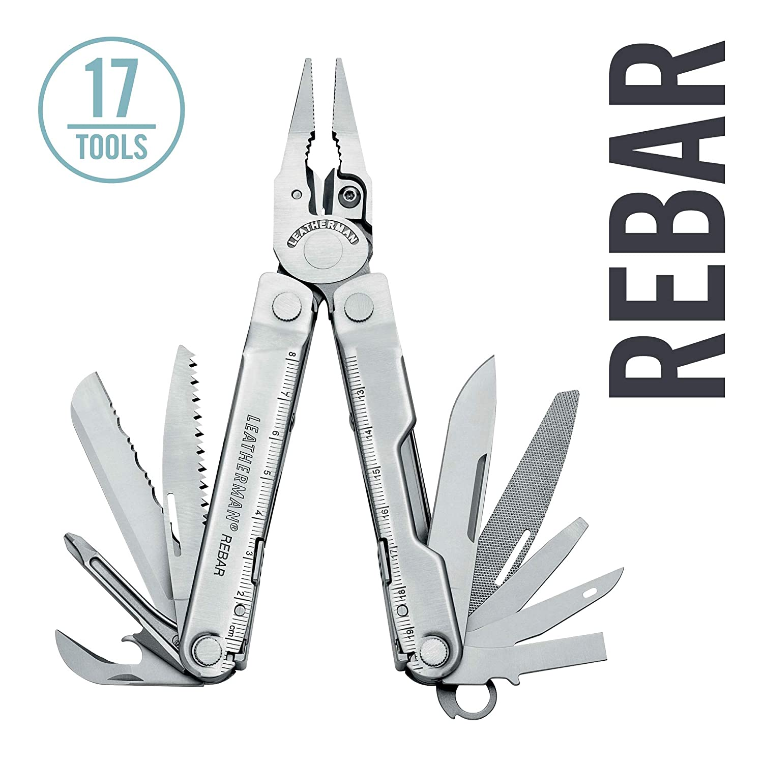 LEATHERMAN – Rebar Multitool with Premium Replaceable Wire Cutters and Saw, Stainless Steel with Nylon Sheath