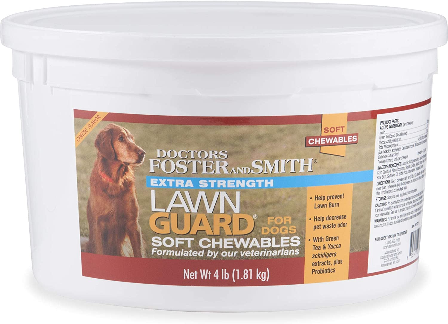 PETCO Brand - DRS. Foster and Smith Extra Strength Lawn Guard Soft Chews for Dogs, 4 lbs.