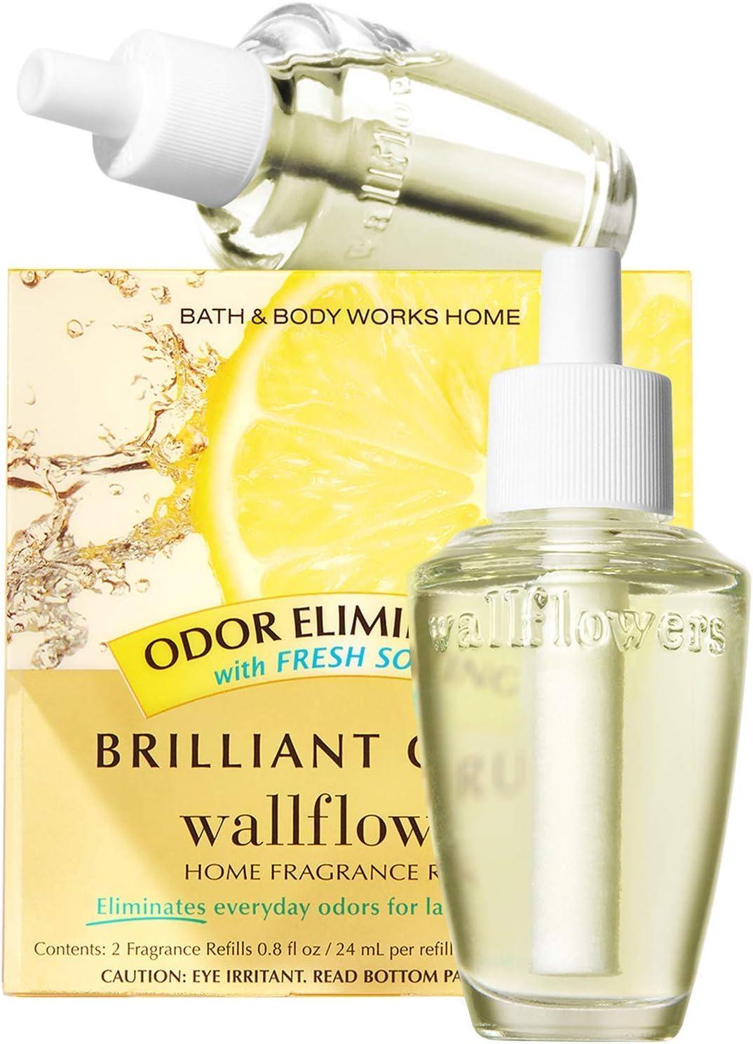 Bath & Body Works Brilliant Citrus Odor Eliminating Wallflowers Home Fragrance Refills, 2-Pack