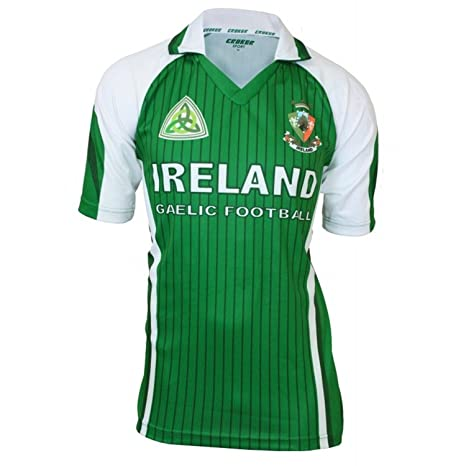 5377b144d37 Buy Croker Ireland Green   White Sublimated Football Jersey Online at Low  Prices in India - Amazon.in