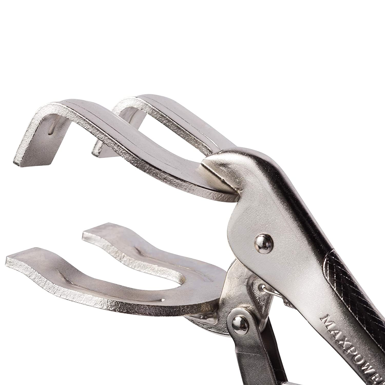 """Punched Plate Chrome Vanadium Adjustable CR-V Heat-Treated MAXPOWER 10/"""" Locking Welding Clamp Easy Centering"""
