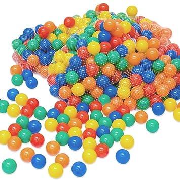 LittleTom 100 Bolas de Color Ø6cm Piscinas de niño Mezcla de 5 ...