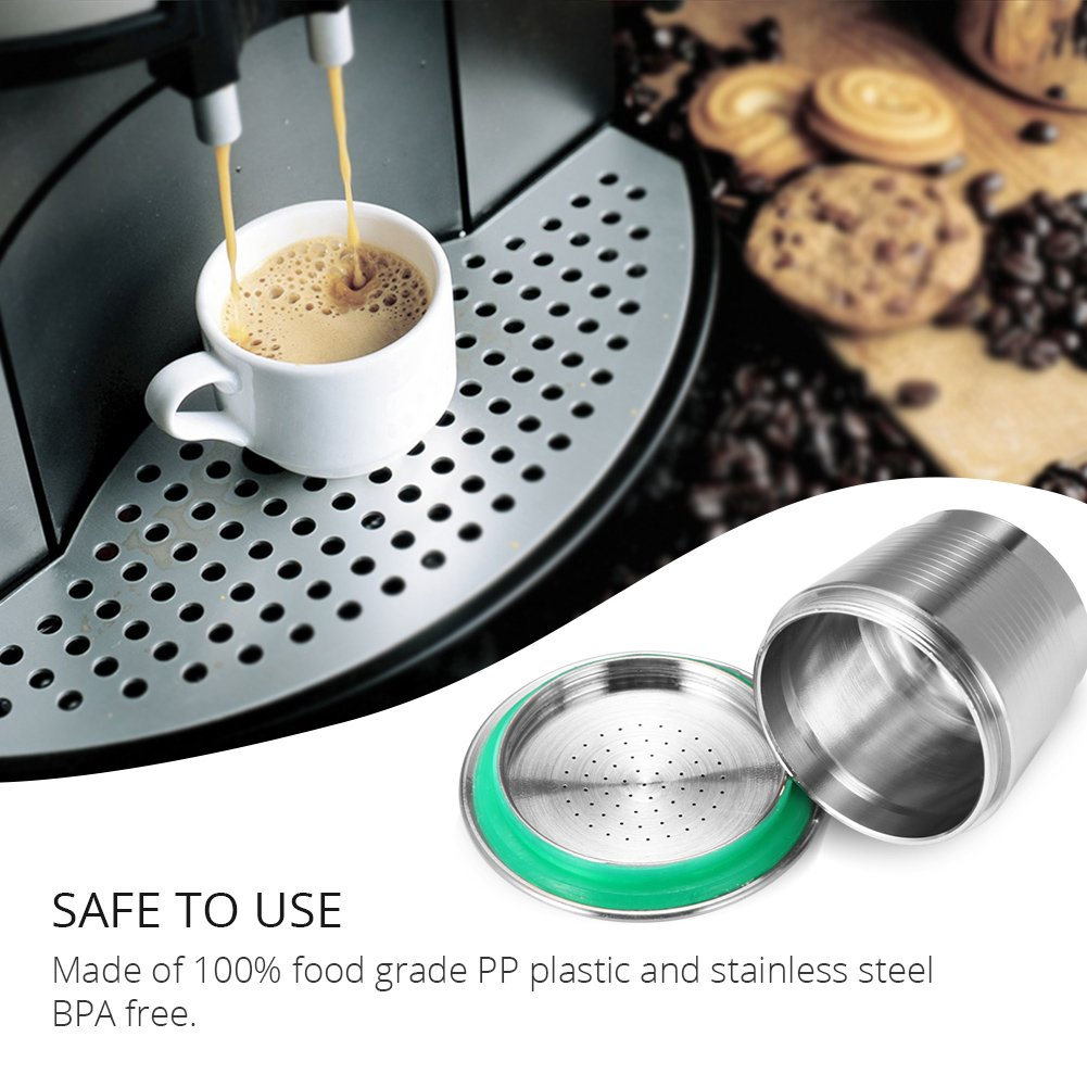 Coffee Capsule, Refillable Reusable New Stainless Steel Metal Capsules Cup, Empty Coffee Capsule Filter for Nespresso Coffee Machine by Powstro (Image #3)