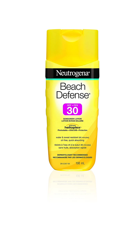 Neutrogena Sunscreen Lotion SPF 30, Beach Defense Water Resistant Sun Cream, Value Size 198ml Neutrogena Suncare