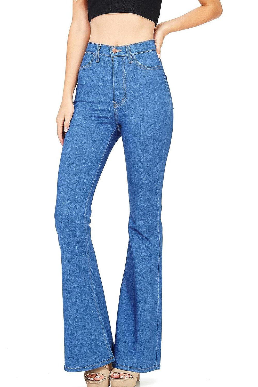 Amazon.com: Lynwitkui - Pantalones vaqueros elásticos de ...