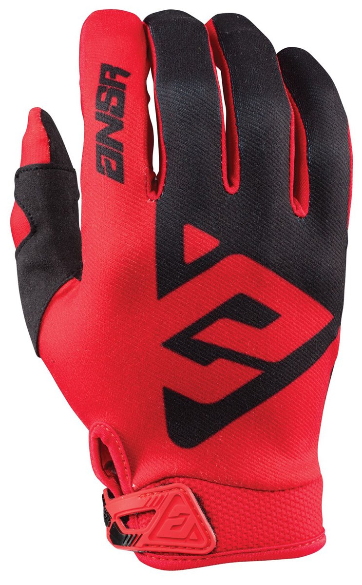 Answer Racing AR1 Men's MotoX Motorcycle Gloves - Red/Black / Large