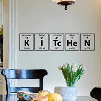 Wall Decal Vinyl Sticker Kitchen Periodic Table Elements Cooking - Wall decals murals