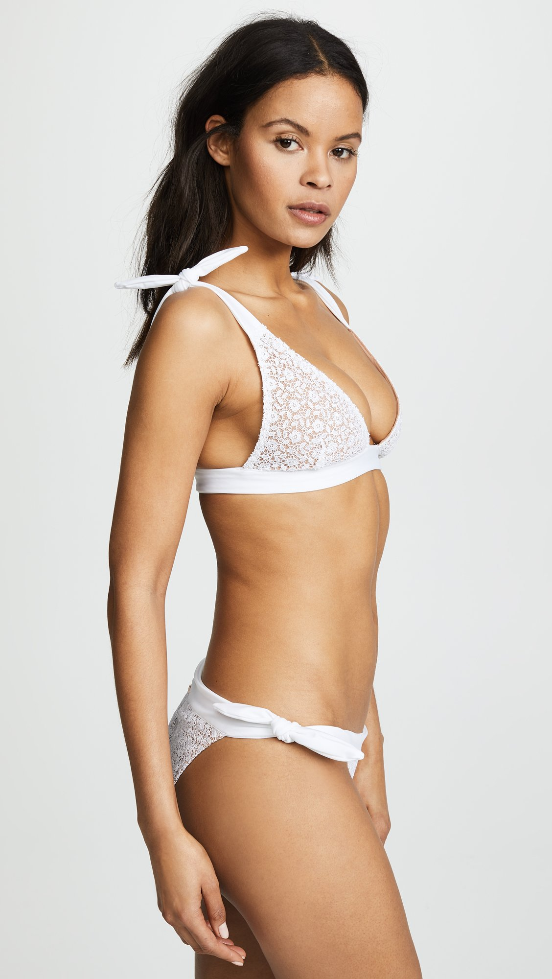 For Love & Lemons Women's Daquiri Lace Bikini Top, White Lace, X-Small by For Love & Lemons (Image #4)