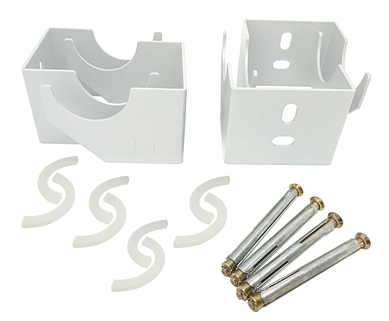 Supports de fixation pour radiateur vertical à colonne, blanc SL Group