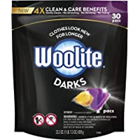 Woolite Darks Pacs, Laundry Detergent Pacs, 30 Count, for Standard and HE Washers, detergent for black clothes, black…