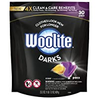 Woolite Darks Pacs, Laundry Detergent Pacs, 30 Count, for Standard and HE Washers...