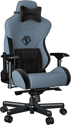 Fabric Gaming Chair,Anda Seat T PRO 2 Ergonomic Office Game Chairs,XL Swivel Recliner Chair