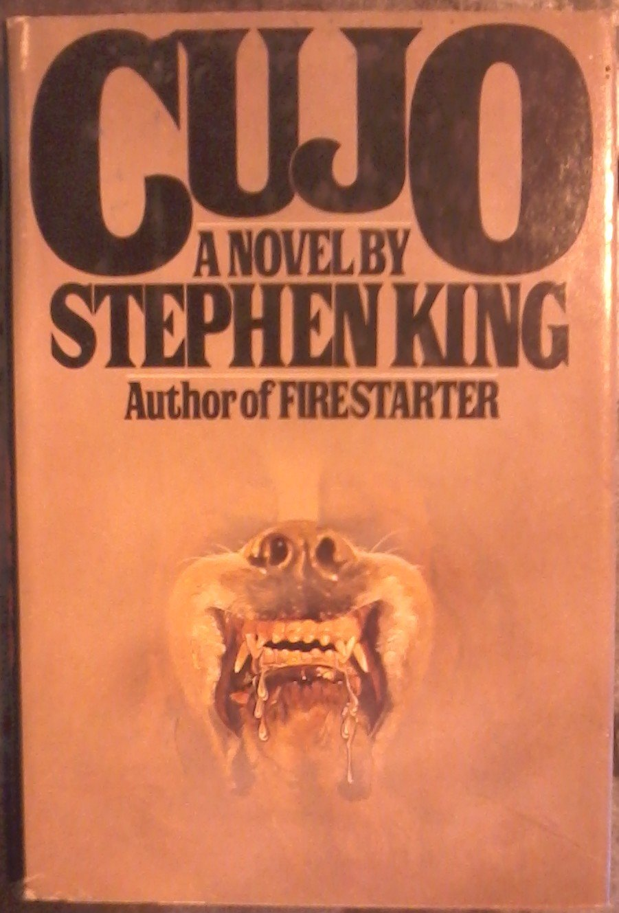 Cujo A Novel King Stephen Dust Wrapper Design By R Adelson Illustration By Steven Stroud Amazon Com Books