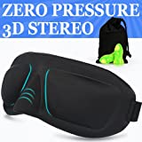 3D Contoured Sleep Mask for A Full Night's Sleeping, Comfortable and Super Soft Eye Mask with Adjustable Strap, Works with Every Nap Position, Ultimate Sleeping Aid, Blindfold, Blocks Light (TYPE-E)