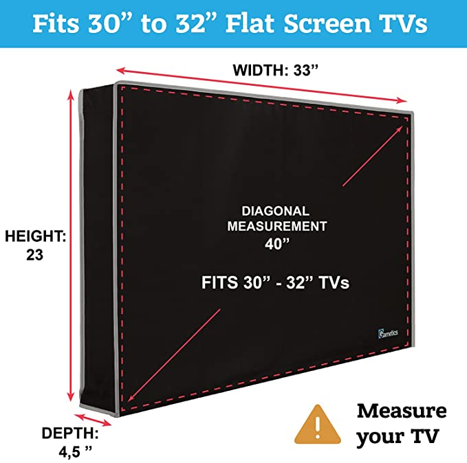 Amazoncom Garnetics Outdoor Tv Cover 30 32 Inch Universal