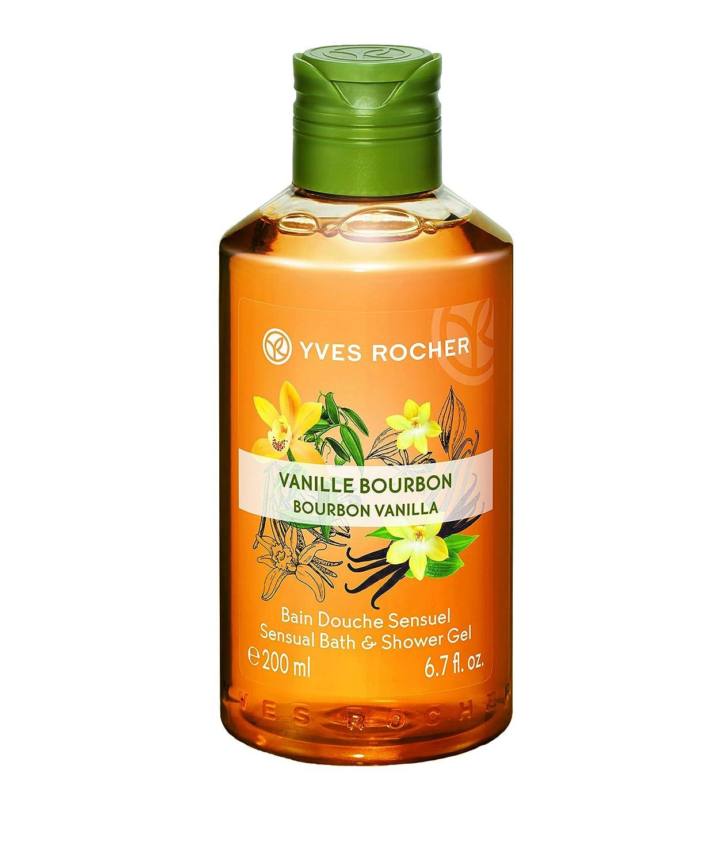 Yves Rocher Les Plaisirs Nature Sensual Bath & Shower Gel Bourbon Vanilla, 200 ml./6.7 fl.oz.