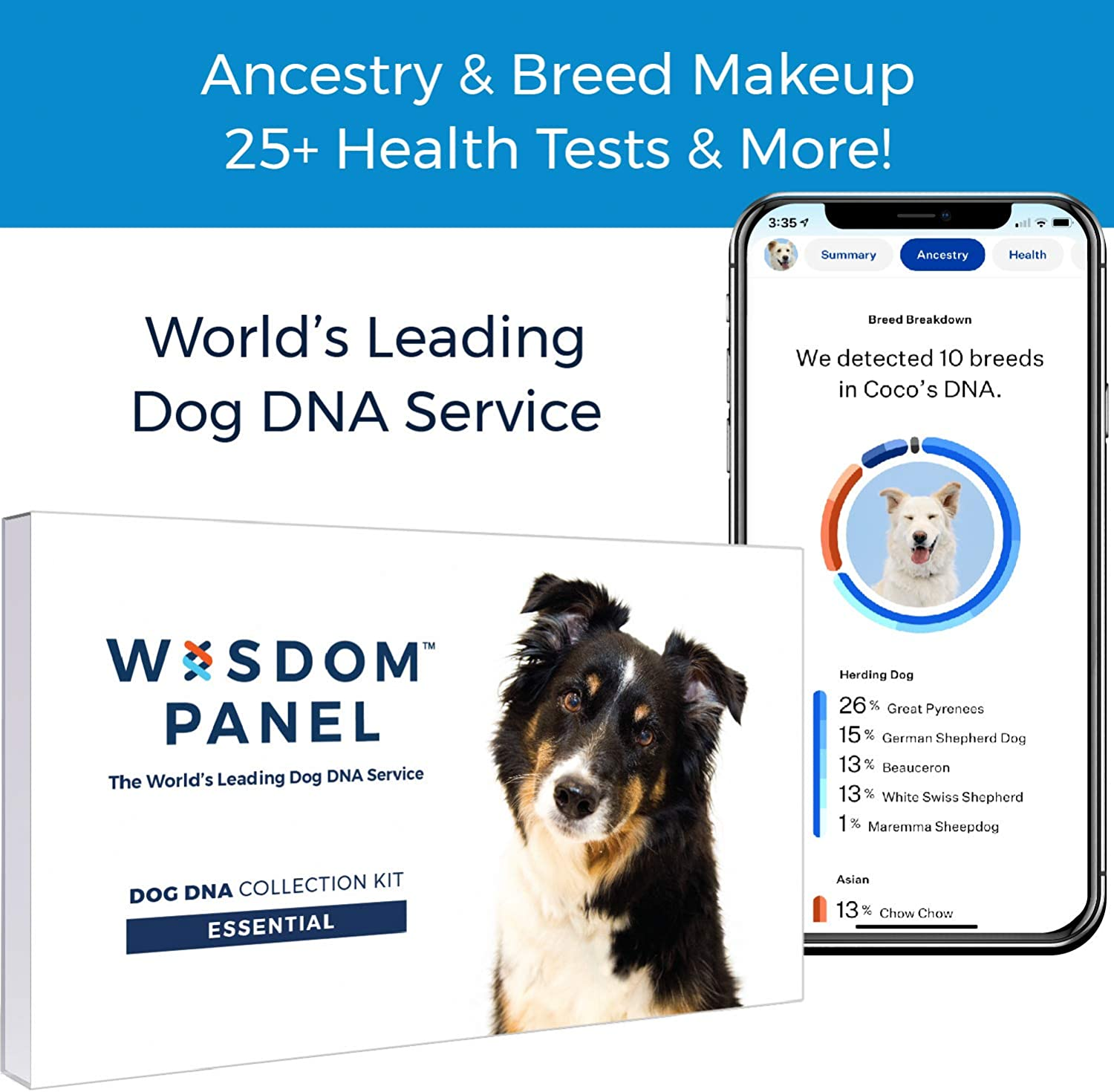 Wisdom Panel Essential – Dog DNA Test for Ancestry, Traits, and Medical Complications