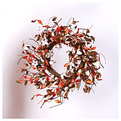 amazon com favoru 20 real cotton flowers bolls wreath welcome home