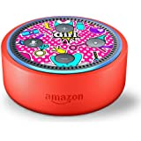 Skin Decal Vinyl Wrap for Amazon Echo Dot Kids Edition Stickers Decals Fun - Girls Rock Pink Jewelry Hearts