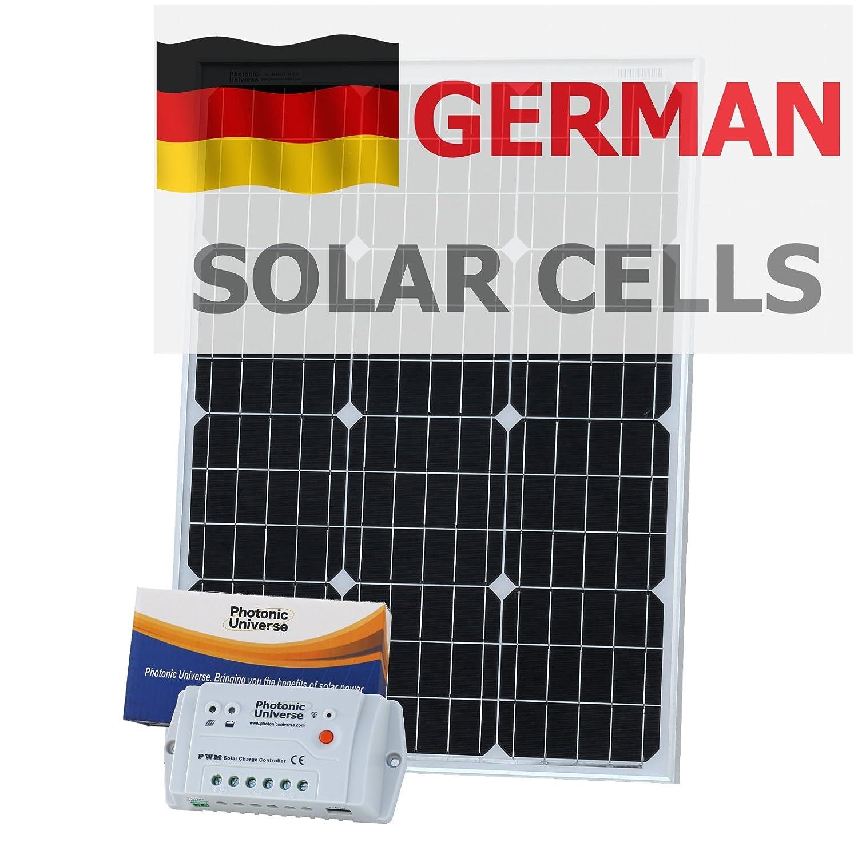 60 W 12 V Photonic Universe kit de carga solar con 10 A mando y 5 ...