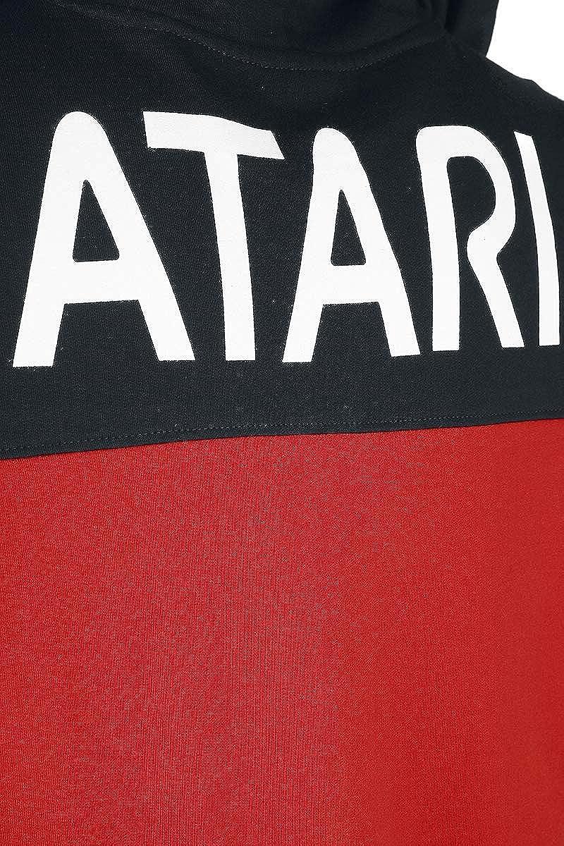 Atari Logo M/änner Kapuzenjacke schwarz//rot Fan-Merch Retrogaming Gaming