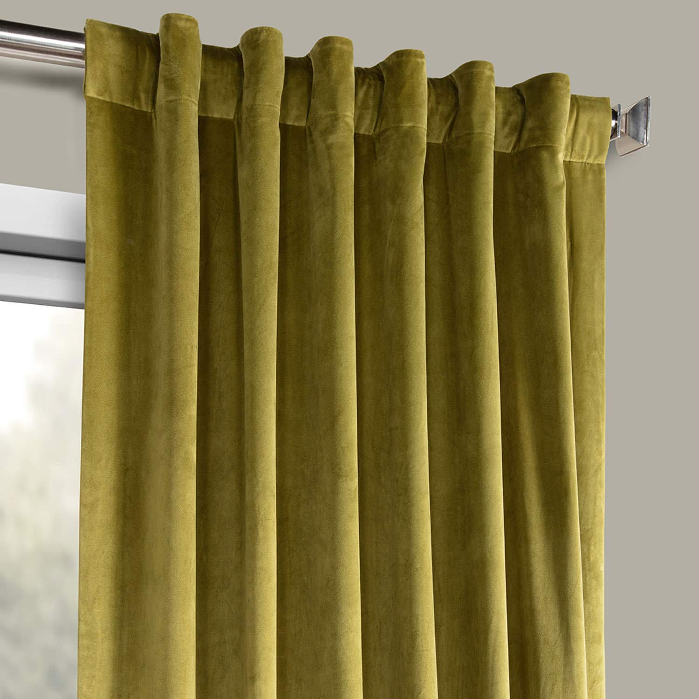 HPD Half Price Drapes VPYC-161224-108 Plush Velvet Curtain