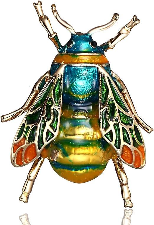 TOOGOO Broche en Cristal de Bourdon a la Mode Badge de Costume Cadeau de Bijoux de Fete Abeille Verte