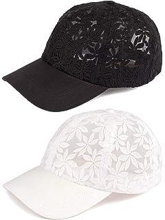 63bb11792f3 Funky Junque Womens Floral Daisy Peony Flower Print Velcro Baseball Cap Hat
