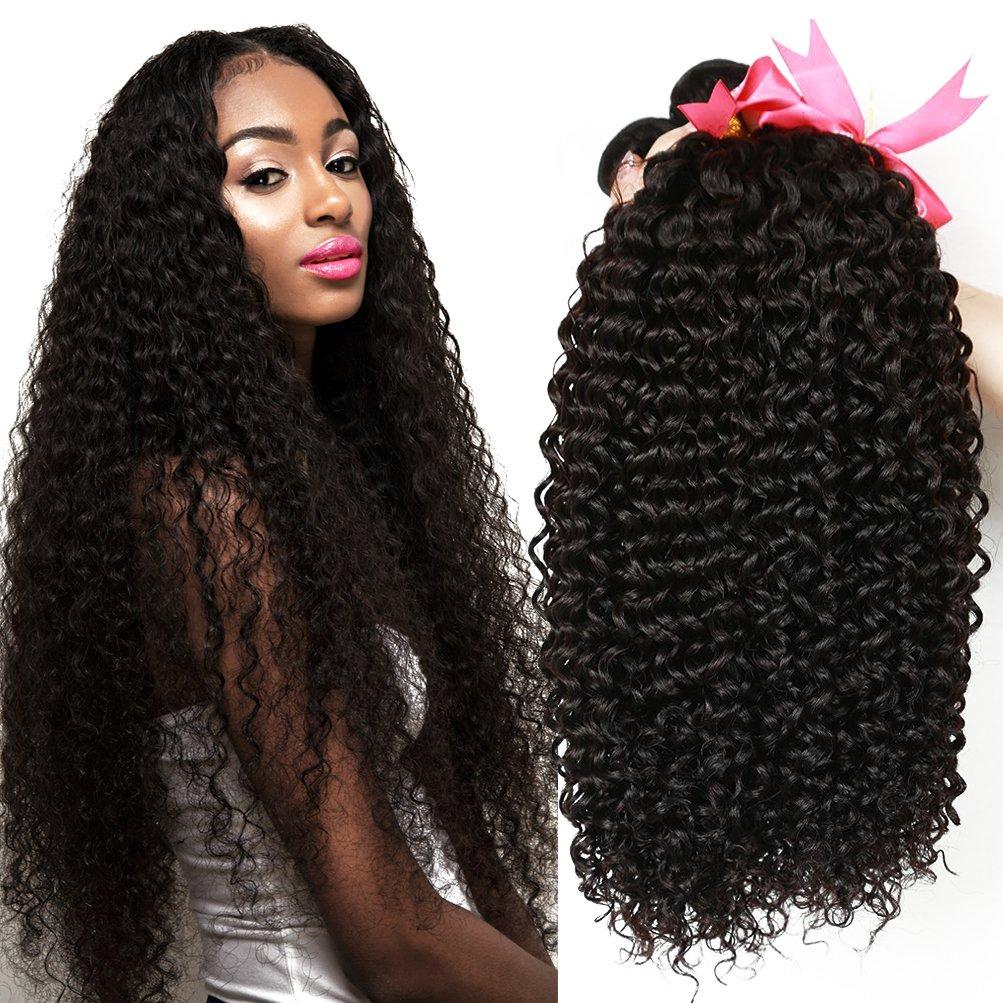 CLAROLAIR tissage bresilien boucle meche bresilienne cheveux brésilien  tissage bresilien en lot meche bresilienne couleur naturelle 47373763a49