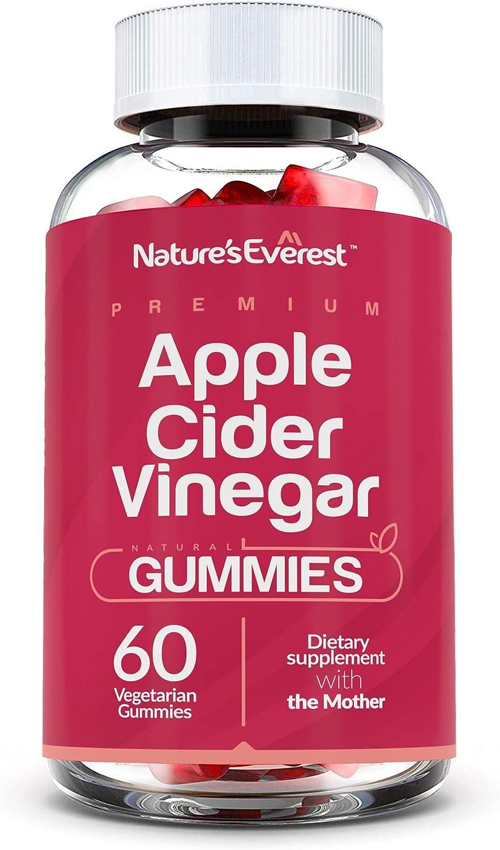 Premium Apple Cider Vinegar Gummies with The Mother- Immunity, Cleanse, Detox & Weight Management - Raw, Non-GMO, Gluten-Free - 60 Count