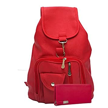 b02839e7449c Buy Glory fashion Stylish Girls School bag College Bag Casual Backpack and  clutch combo(Red) Online at Low Prices in India - Amazon.in