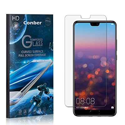 Conber (1 Pack) Screen Protector for Huawei P20, [Scratch-Resistant][Anti-Shatter][Case Friendly] Premium Tempered Glass Screen Protector for Huawei P20: Baby