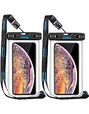[2 paquetes] Mpow Funda Impermeable,Funda Bolsa Móvil, Bolsa Estanca ,Bolsa Seca para Celular con Cordón Desmontable para iPhone X/XR/XS/XS MAX/8/7/Galaxy S10/S9/S8/S7/S7edge/S6/S Huawei P10/P8/P9