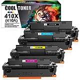 Cool Toner Compatible Toner Cartridge Replacement for HP 410X CF410X CF411X CF412X CF413X 410A CF410A M477FDW for HP…