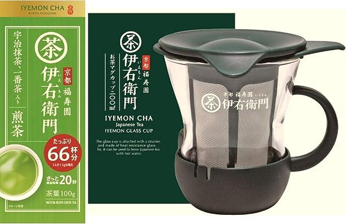 【Amazon.co.jp限定】 宇治の露 伊右衛門 抹茶入り煎茶 100g+マグカップ リーフ